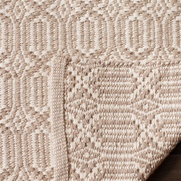Safavieh Montauk Geometric Rug - 4' x 6' - Cotton - Ivory/Gray