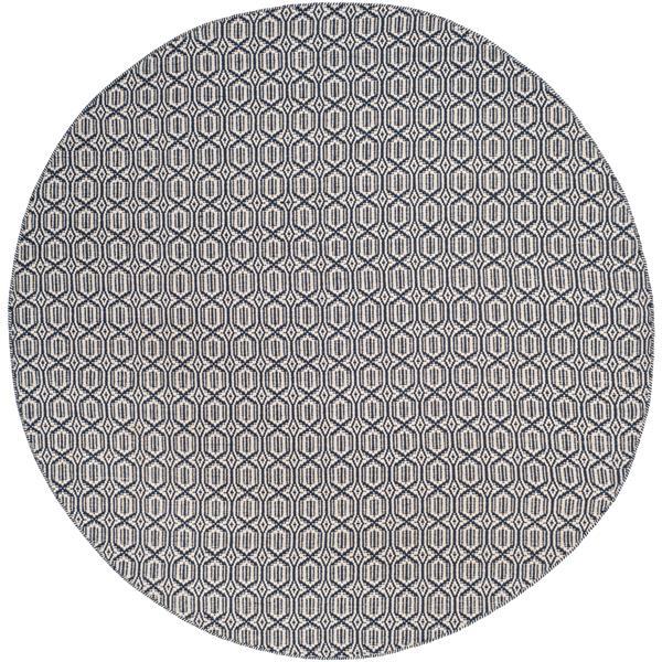 Safavieh Montauk Geometric Rug - 6' x 6' - Cotton - Ivory/Navy Blue