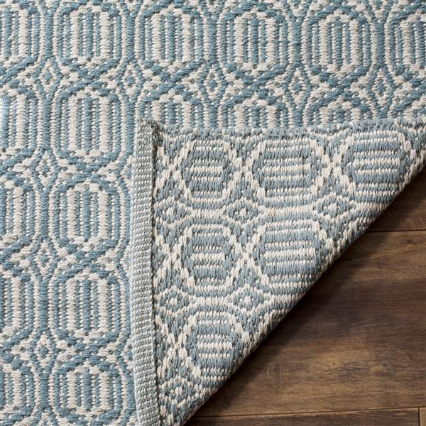 Safavieh Montauk Geometric Rug - 6' x 6' - Cotton - Ivory/Blue