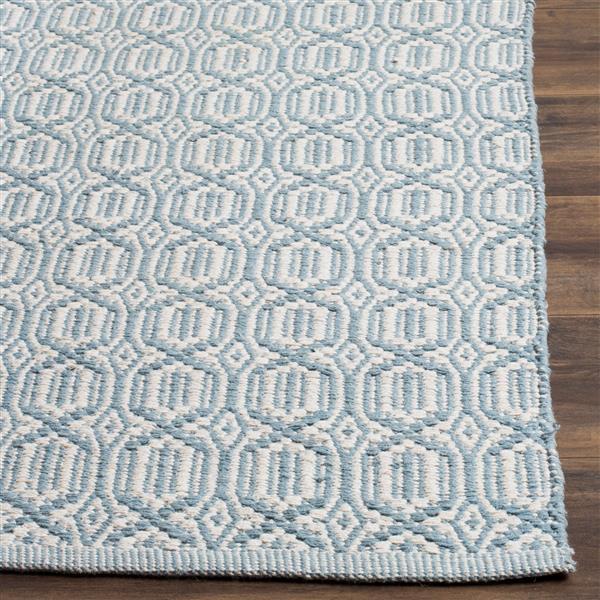 Safavieh Montauk Geometric Rug - 3' x 5' - Cotton - Ivory/Blue