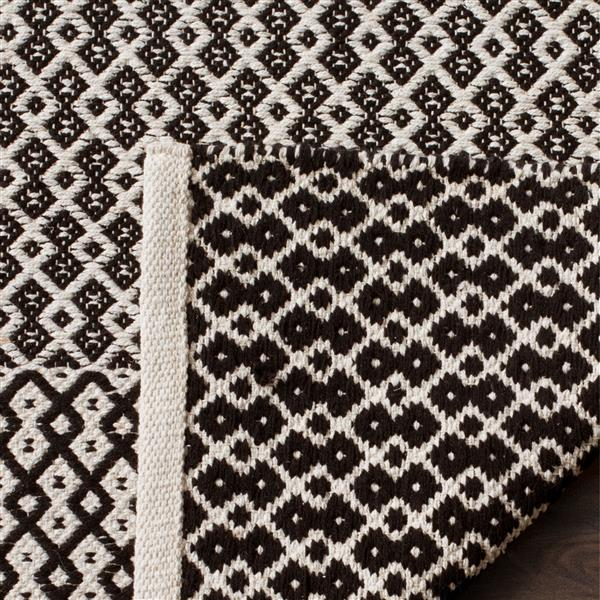 Safavieh Montauk Geometric Rug - 3' x 5' - Cotton - Ivory/Black