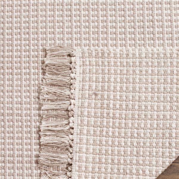 Safavieh Montauk Geometric Rug - 2.3' x 8' - Cotton - Ivory/Gray