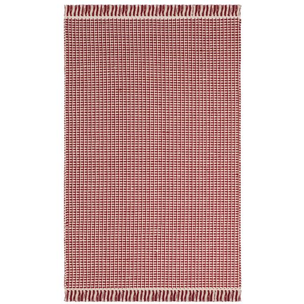 Safavieh Montauk Geometric Rug - 3' x 5' - Cotton - Ivory/Red
