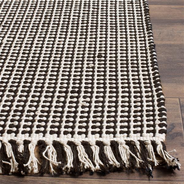 Safavieh Montauk Geometric Rug - 2.3' x 8' - Cotton - Ivory/Black