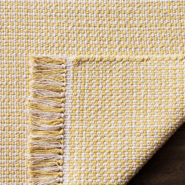 Safavieh Montauk Geometric Rug - 3' x 5' - Cotton - Ivory/Yellow