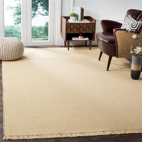 Safavieh Montauk Geometric Rug - 4' x 6' - Cotton - Ivory/Yellow