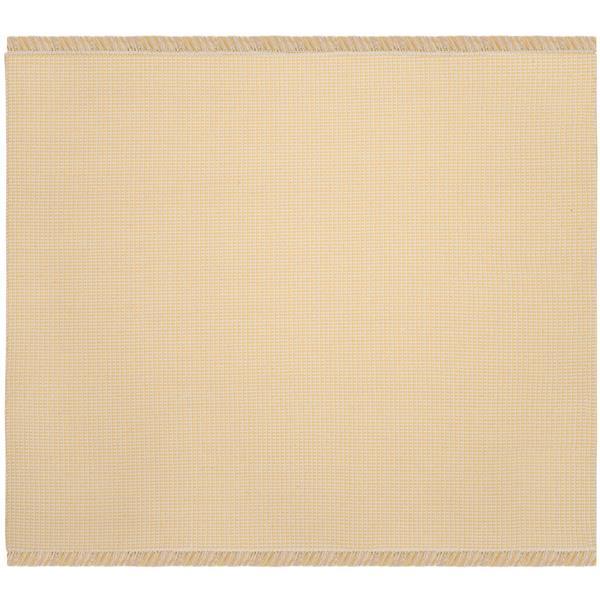 Safavieh Montauk Geometric Rug - 6' x 6' - Cotton - Ivory/Yellow