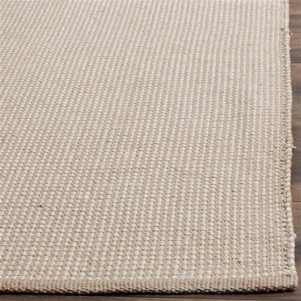 Safavieh Montauk Rug - 3' x 5' - Cotton - Ivory/Gray