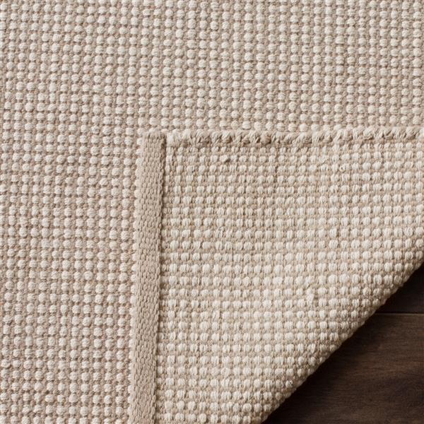 Safavieh Montauk Rug - 6' x 6' - Cotton - Ivory/Gray