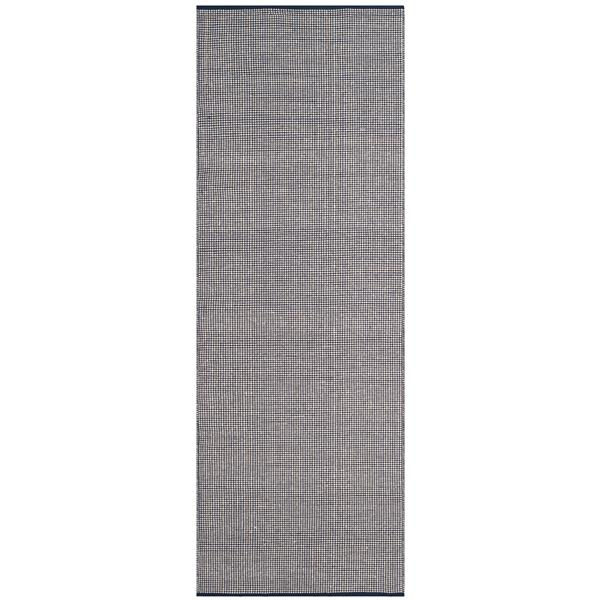 Safavieh Montauk Rug - 2.3' x 8' - Cotton - Ivory/Navy Blue