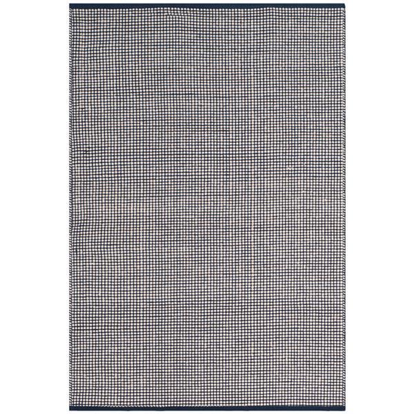 Safavieh Montauk Rug - 3' x 5' - Cotton - Ivory/Navy Blue
