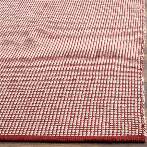 Safavieh Montauk Geometric Rug - 6' x 6' - Cotton - Ivory/Red
