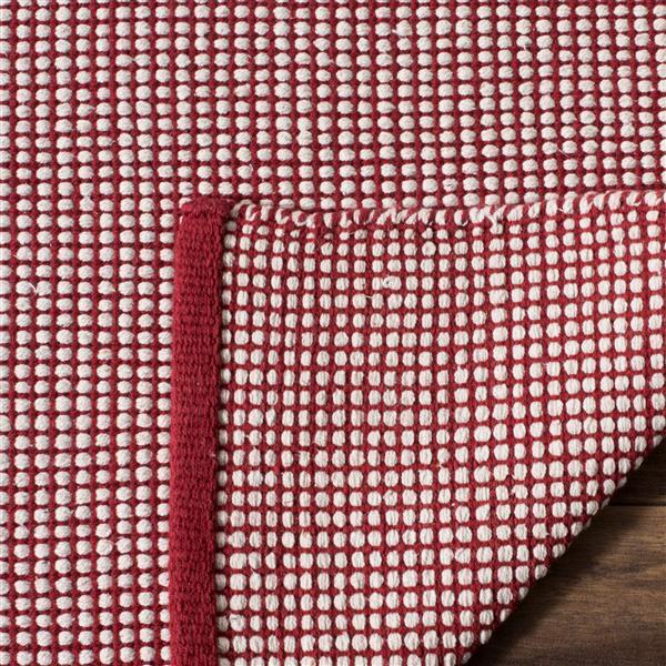 Safavieh Montauk Geometric Rug - 3' x 5' - Cotton - Ivory/Red