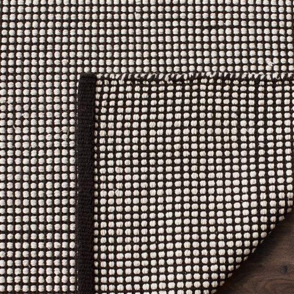 Safavieh Montauk Geometric Rug - 6' x 6' - Cotton - Ivory/Black