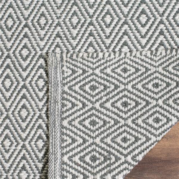 Safavieh Montauk Geometric Rug - 2.3' x 8' - Cotton - Ivory/Gray