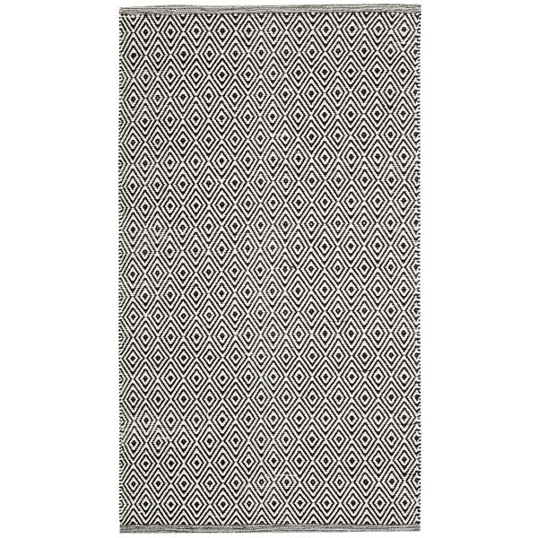 Safavieh Montauk Rug - 2.5' x 4' - Cotton - Ivory/Navy Blue