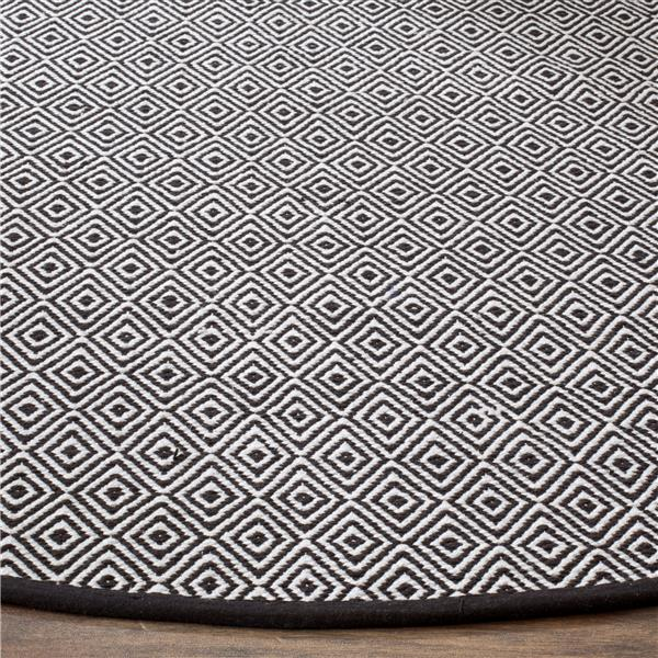 Safavieh Montauk Geometric Rug - 6' x 6' - Cotton - Ivory/Navy Blue