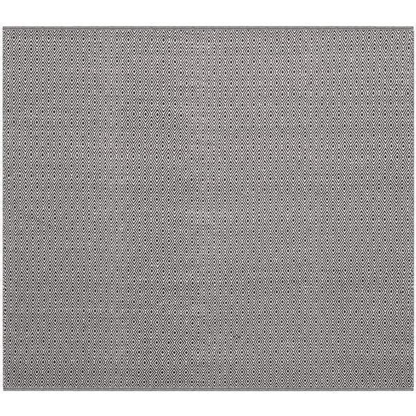 Safavieh Montauk Geometric Rug - 4' x 4' - Cotton - Ivory/Navy Blue