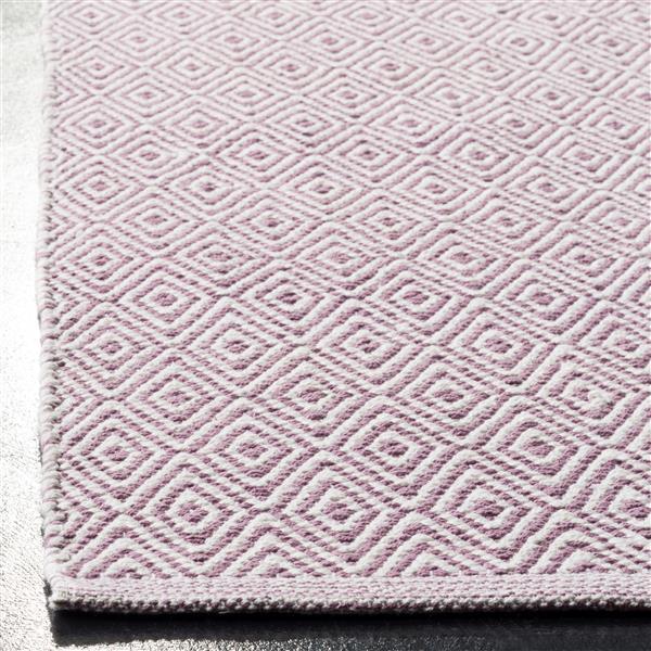 Safavieh Montauk Geometric Rug - 2.3' x 8' - Cotton - Ivory/Purple