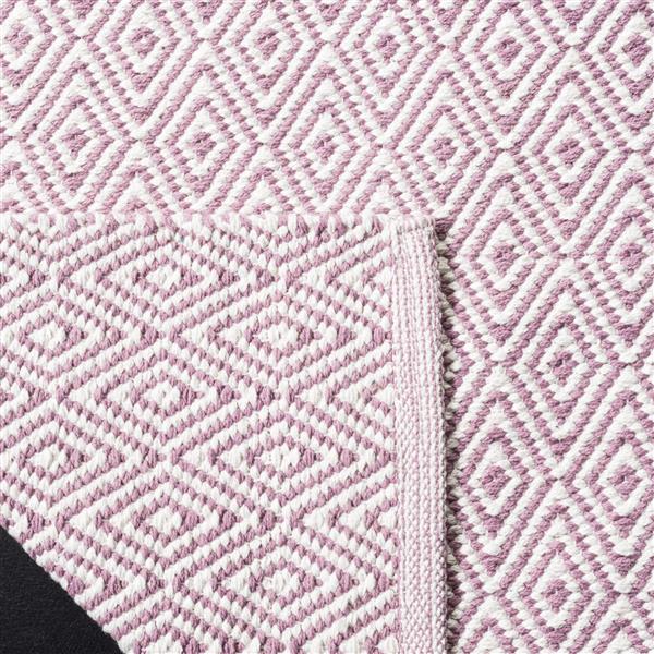 Safavieh Montauk Geometric Rug - 6' x 6' - Cotton - Ivory/Purple