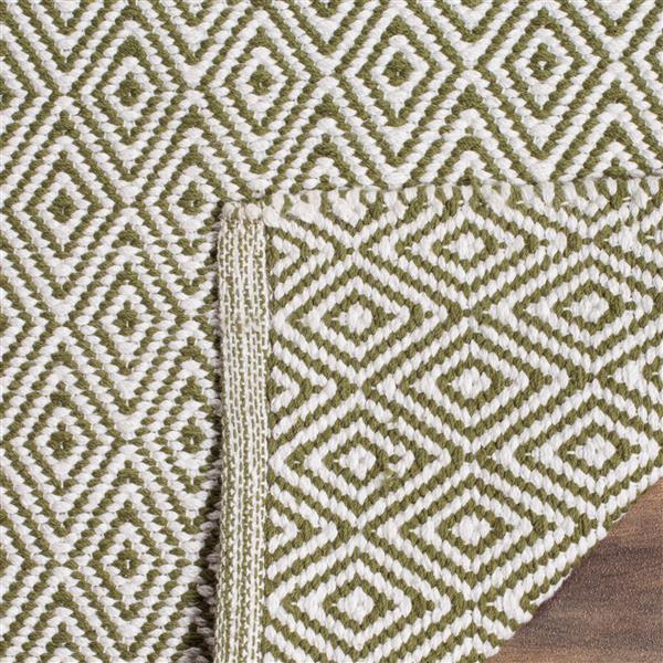 Safavieh Montauk Geometric Rug - 4' x 6' - Cotton - Ivory/Green