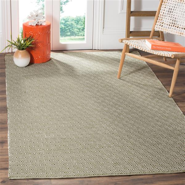 Safavieh Montauk Geometric Rug - 6' x 6' - Cotton - Ivory/Green