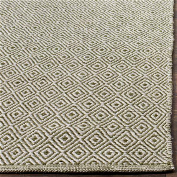 Safavieh Montauk Geometric Rug - 6' x 6' - Cotton - Ivory/Green