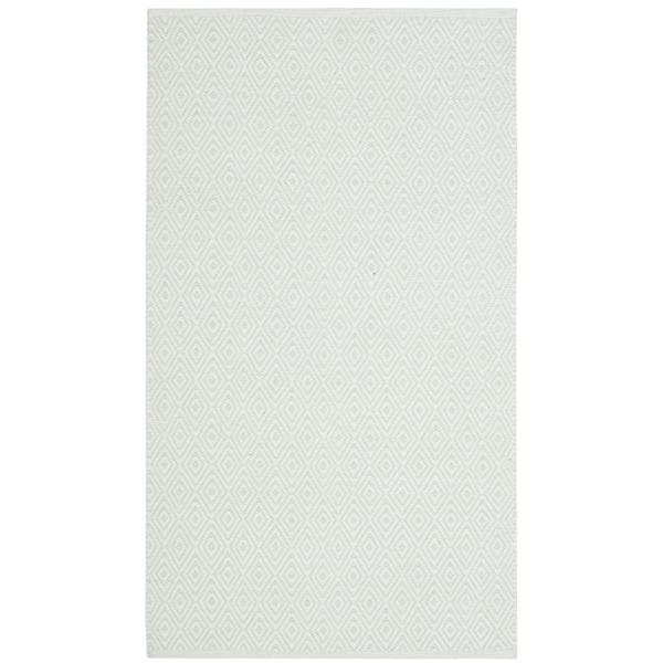 Safavieh Montauk Geometric Rug - 2.5' x 4' - Cotton - Ivory/Green