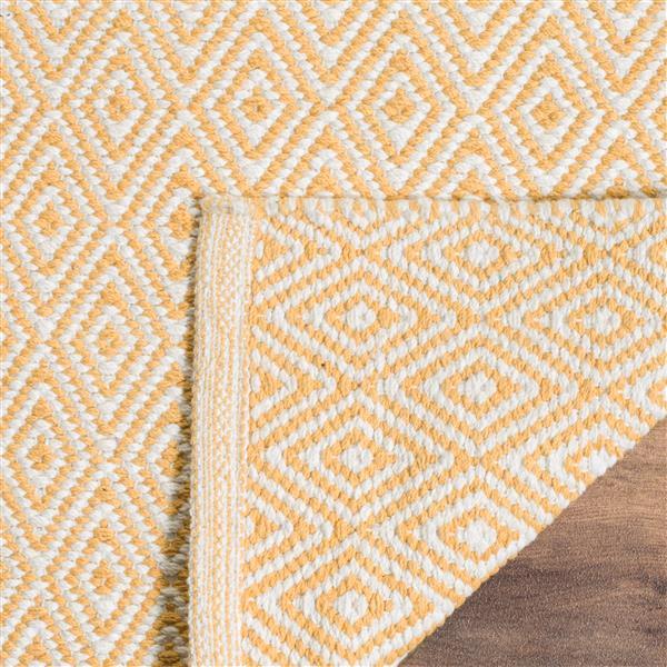 Safavieh Montauk Geometric Rug - 2.3' x 8' - Cotton - Ivory/Gold