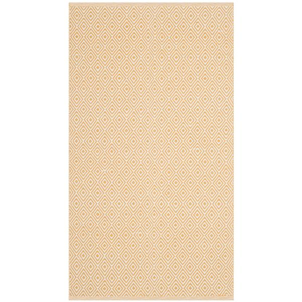 Safavieh Montauk Geometric Rug - 2.5' x 4' - Cotton - Ivory/Gold