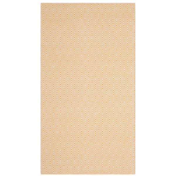 Safavieh Montauk Geometric Rug - 3' x 5' - Cotton - Ivory/Gold