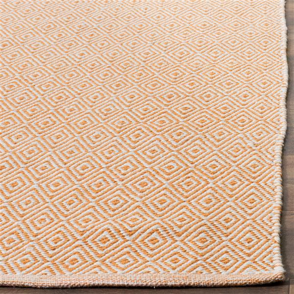 Safavieh Montauk Geometric Rug - 2.3' x 8' - Cotton - Ivory/Rust