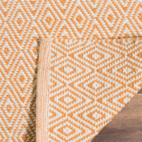 Safavieh Montauk Geometric Rug - 6' x 6' - Cotton - Ivory/Rust