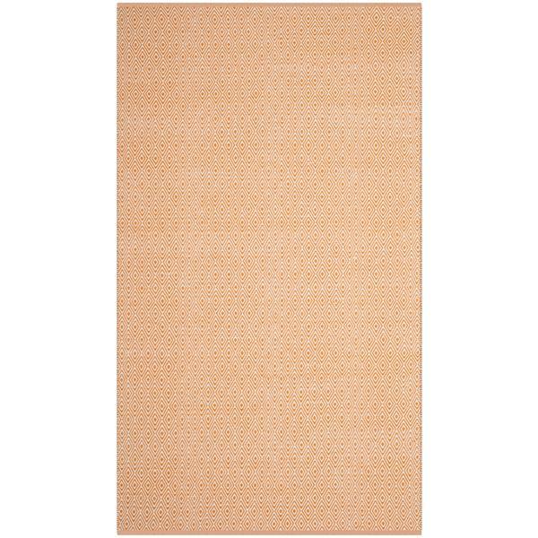 Safavieh Montauk Geometric Rug - 4' x 6' - Cotton - Ivory/Rust