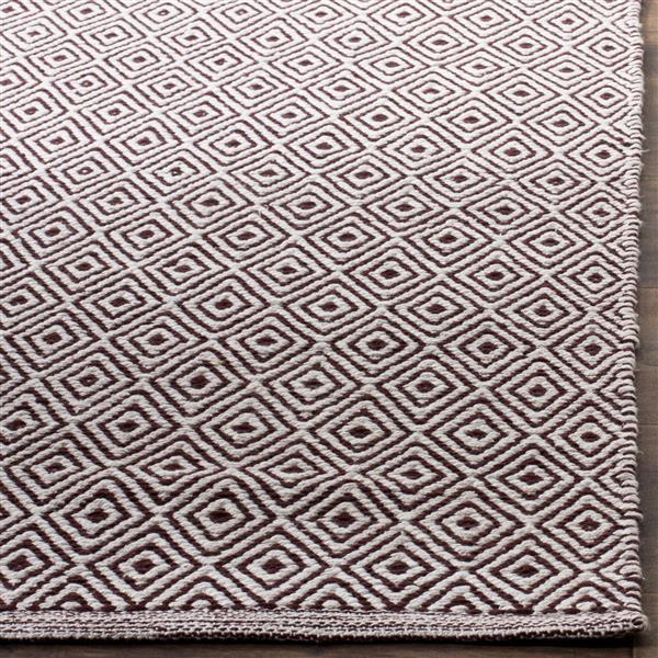 Safavieh Montauk Geometric Rug - 3' x 5' - Cotton - Ivory/Chocolate