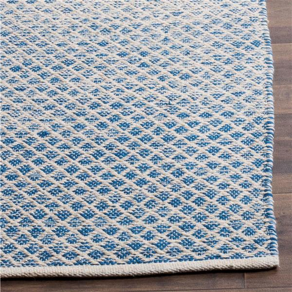 Safavieh Montauk Ombre Rug - 2.3' x 7' - Cotton - Blue/Ivory