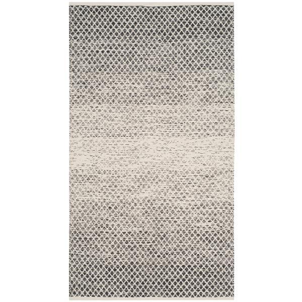 Safavieh Montauk Ombre Rug - 3' x 5' - Cotton - Black/Ivory