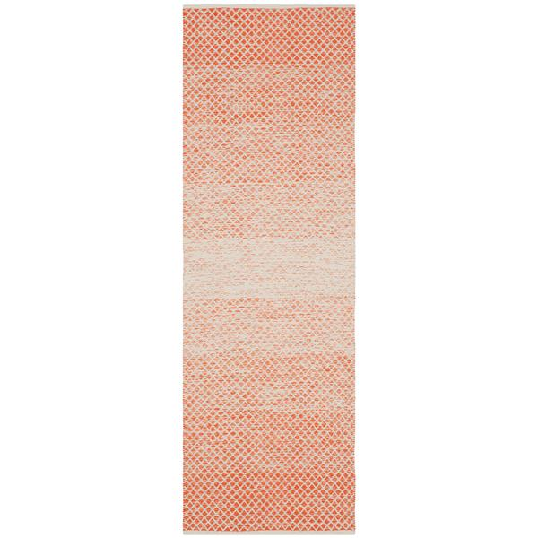 Safavieh Montauk Ombre Rug - 2.3' x 7' - Cotton - Orange/Ivory