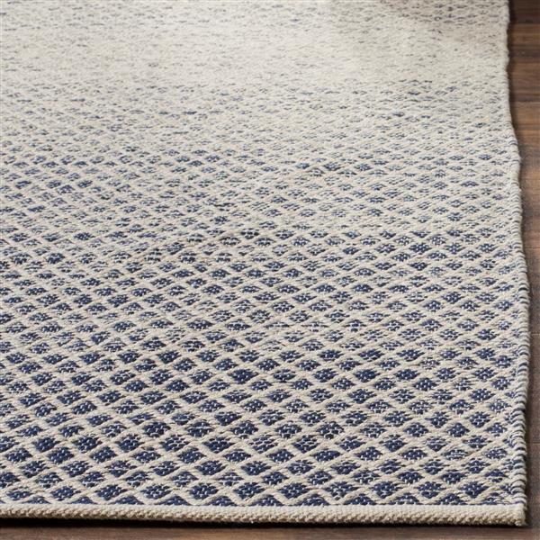 Safavieh Montauk Ombre Rug - 4' x 6' - Cotton - Navy Blue/Ivory