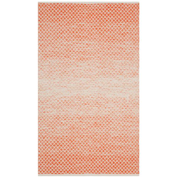 Safavieh Montauk Ombre Rug - 3' x 5' - Cotton - Orange/Ivory