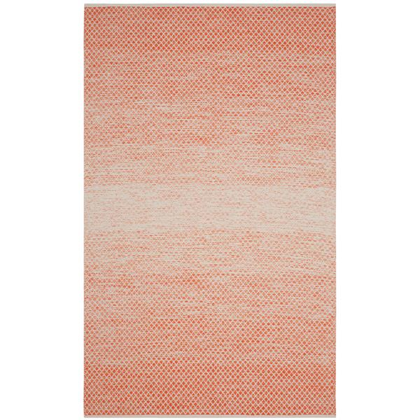 Safavieh Montauk Ombre Rug - 4' x 6' - Cotton - Orange/Ivory