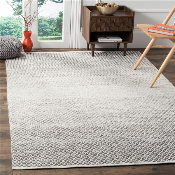 Safavieh Montauk Ombre Rug - 3' x 5' - Cotton - Light Gray/Ivory