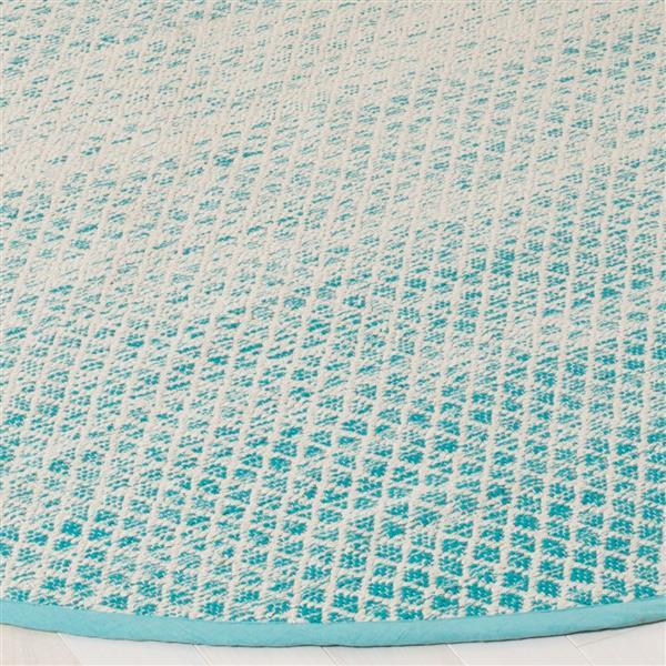Safavieh Montauk Ombre Rug - 2.3' x 7' - Cotton - Turquoise/Ivory