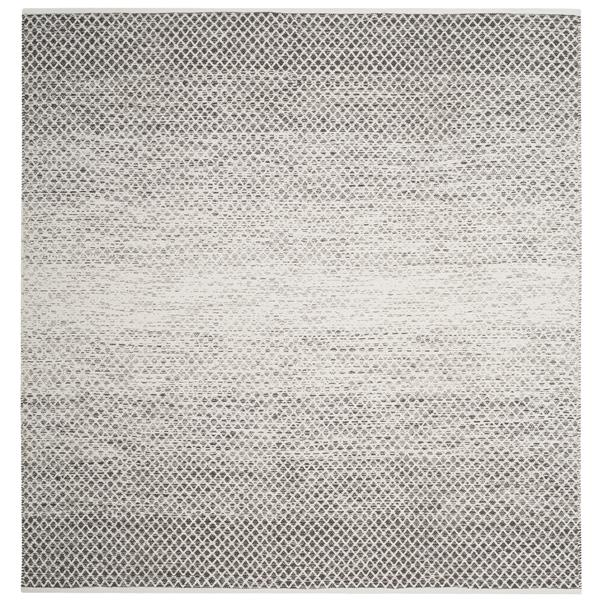 Safavieh Montauk Ombre Rug - 6' x 6' - Cotton - Light Gray/Ivory
