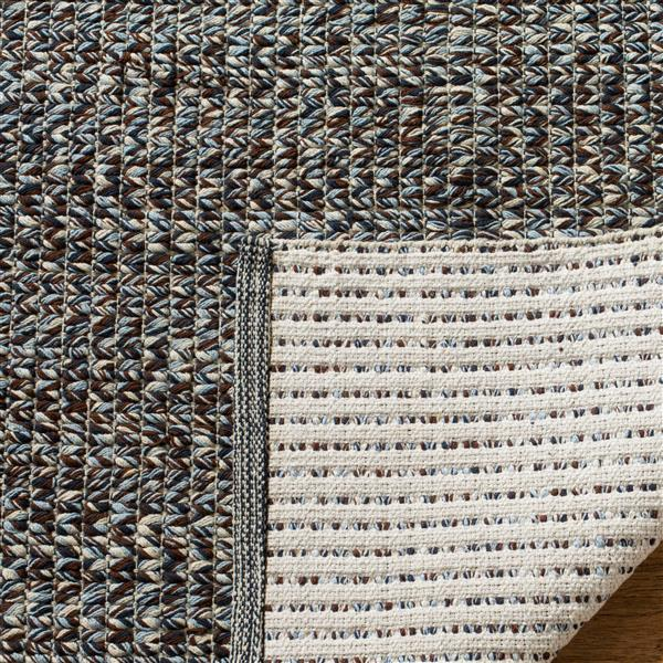 Safavieh Montauk Solid Rug - 2.3' x 7' - Cotton - Blue/Multi