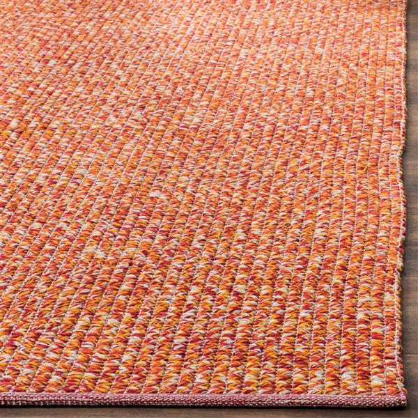 Safavieh Montauk Solid Rug - 2.3' x 7' - Cotton - Orange/Multi