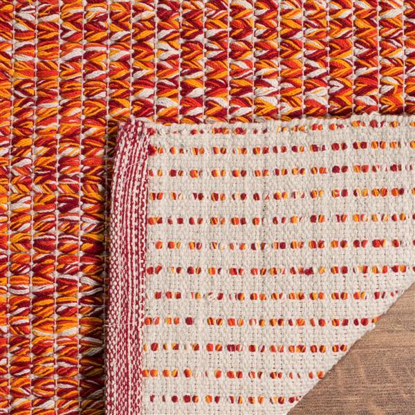 Safavieh Montauk Solid Rug - 4' x 6' - Cotton - Orange/Multi