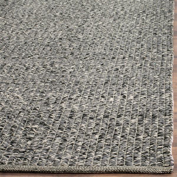 Safavieh Montauk Solid Rug - 3' x 5' - Cotton - Gray/Multi