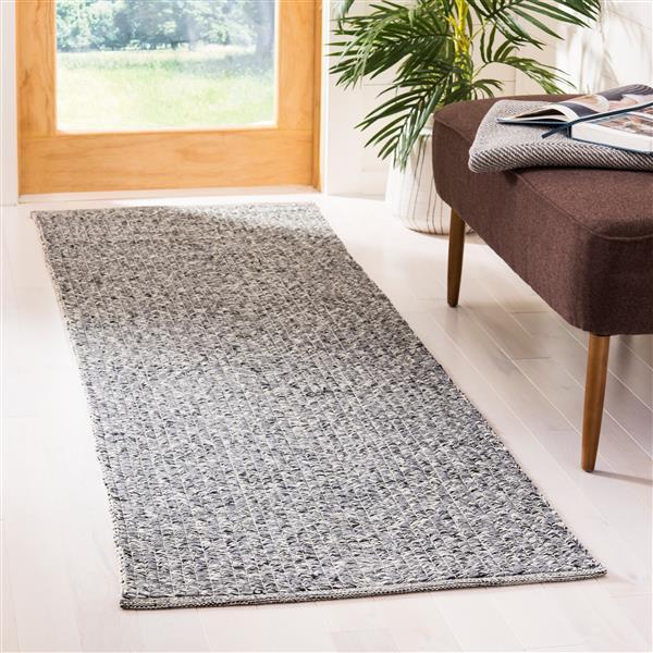 Safavieh Montauk Solid Rug - 2.3' x 7' - Cotton - Gray/Multi