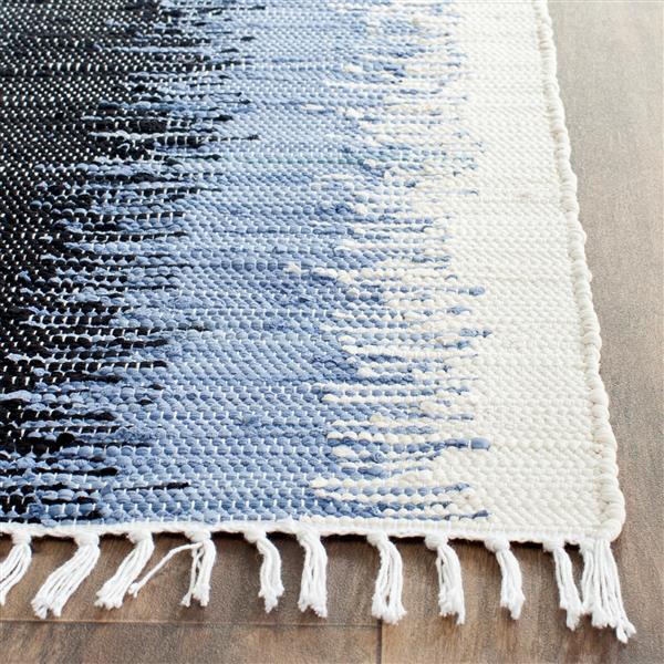 Safavieh Montauk Stripe Rug - 4' x 6' - Cotton - Gray/Black